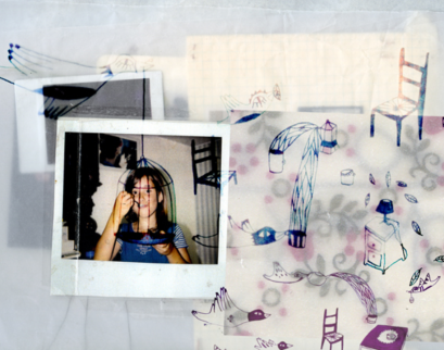 """Delphine"" - Illustration - Collage et dessin"