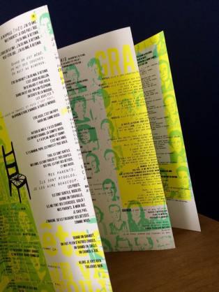 Grandir, ouvrage sérigraphié réalisé avec Percolation Nancy - Partenariat avec l'OHS de Flavigny