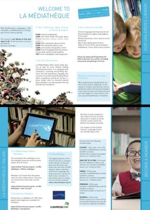 Création print - Institut français du Royaume Unis