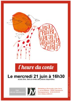 Création print - Médiathèque Jules Verne Vandoeuvre