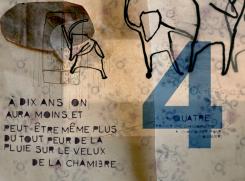 """""""Orage"""" - Illustration - extrait d'un numéraire sur les 10 ans - Collage et dessin"""