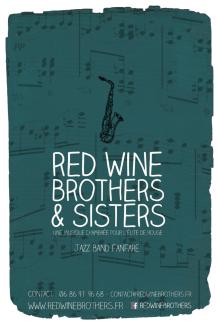 Red Wine Brothers & Sisters - Carte postale print