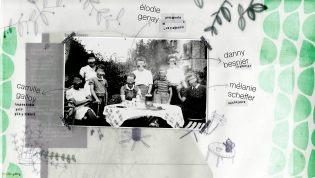 Page d'accueil - Illustration pour les Voyageurs de la Nuit - Collage et dessin